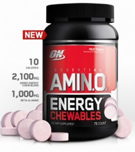 Optimum Nutrition Amino Energy Chewables 75 Chewables