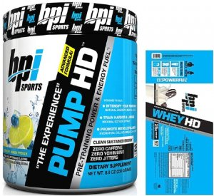 BPI Sports Pump HD 25 Servings + FREE Whey HD 5 Servings